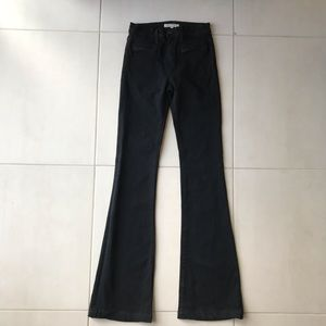 Joie Black Nouveau Flare Cotton Blend Jeans
